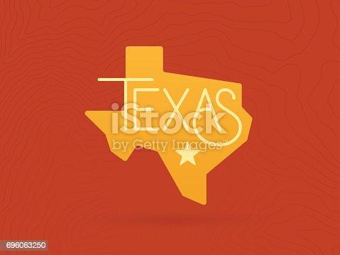 Texas State Map Symbol