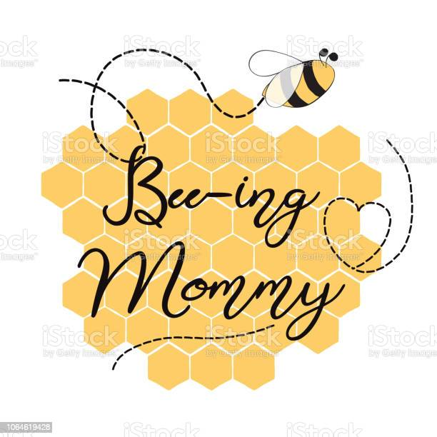 Text beeing mommy decorated hearts honeycomb bees sweet card template vector id1064619428?b=1&k=6&m=1064619428&s=612x612&h=qz be2ehh4qs r81 tjhrsu05uclumlx6n ajdr2enk=