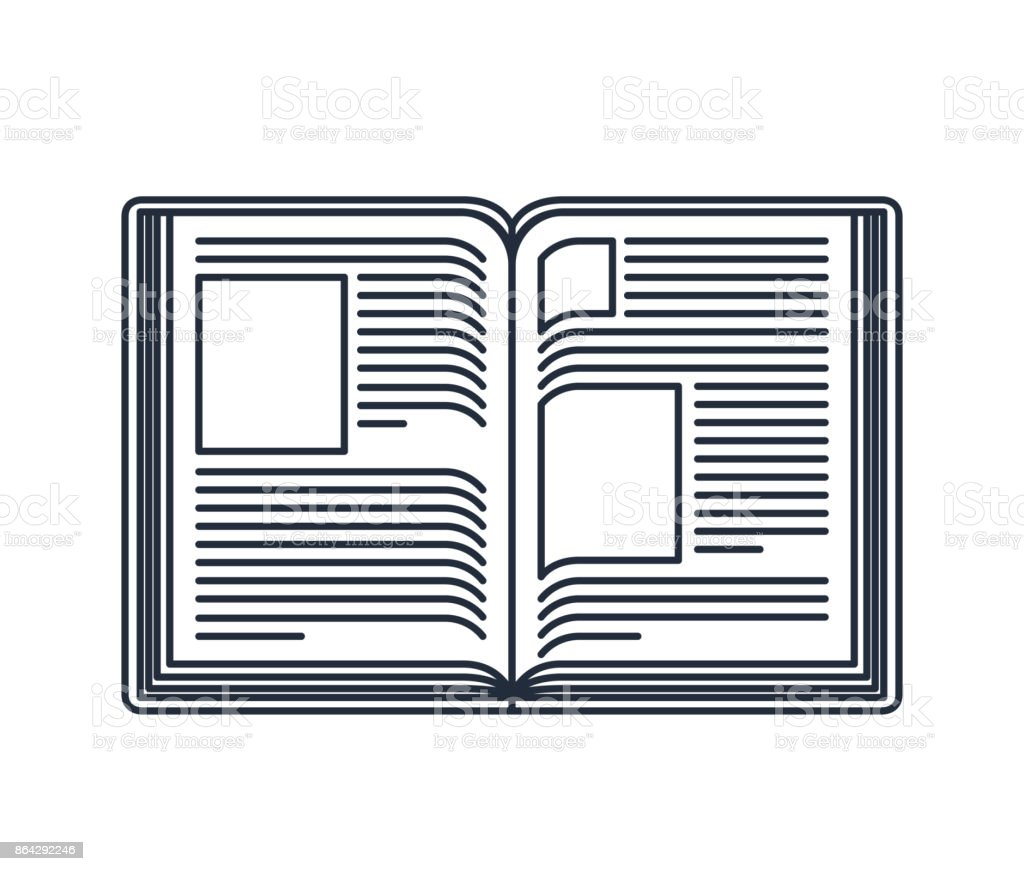 text book open isolated icon design royalty-free text book open isolated icon design stock vector art & more images of blank