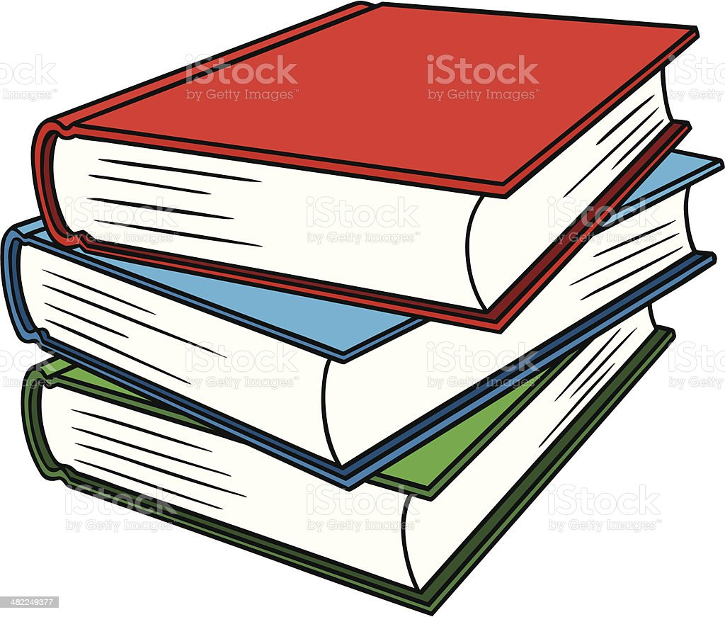 Text Books royalty-free stock vector art