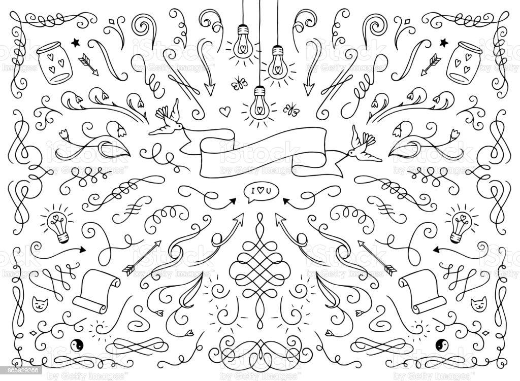 Text decoration elements vector art illustration