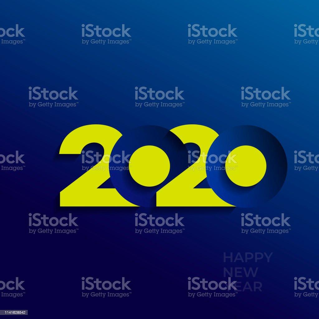Ilustración De 2020 Diseño De Texto Logotipo Moderno
