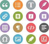 Text editor buttons / Wheelico icons