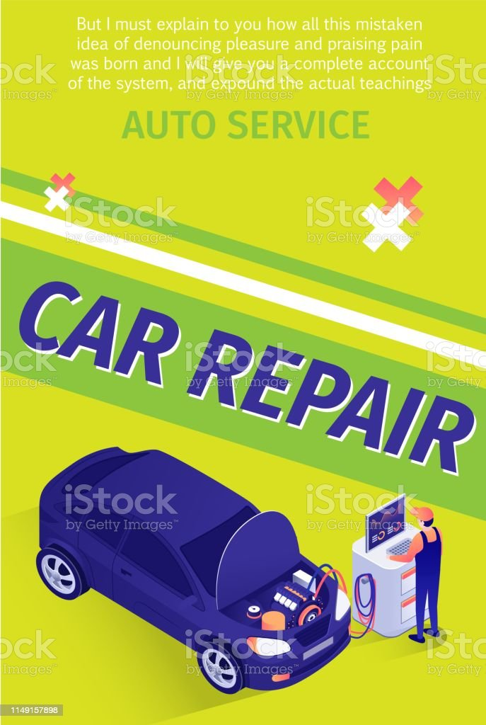 Text Flyer for Professional Car Repair Service