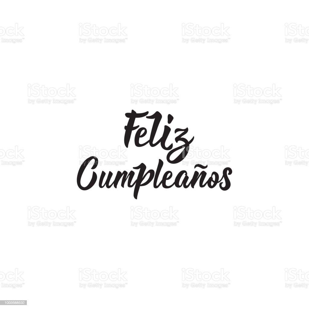 Texte En Espagnol Joyeux Anniversaire Illustration Vectorielle De