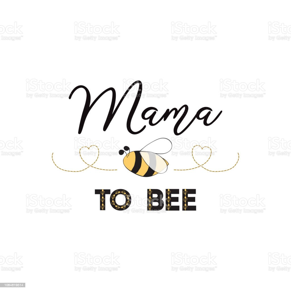 Mama De Texte Dexpression Bee Sur Fond Blanc Mignon Carte Design