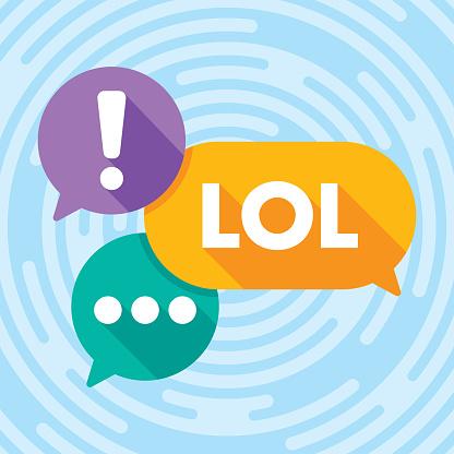 Text Message Speech Bubbles Flat 1