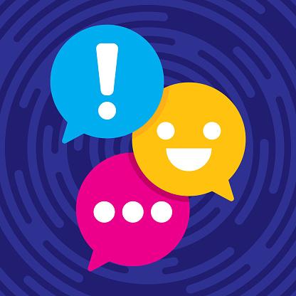 Text Message Speech Bubbles Flat 3