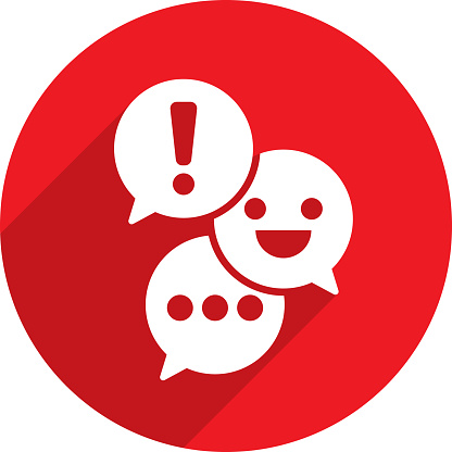 Text Message Speech Bubbles Icon Silhouette 3