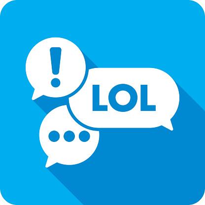 Text Message Speech Bubbles Icon Silhouette