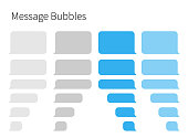 istock Text Messaging. Smartphone, realistic vector  illustration 1143196899