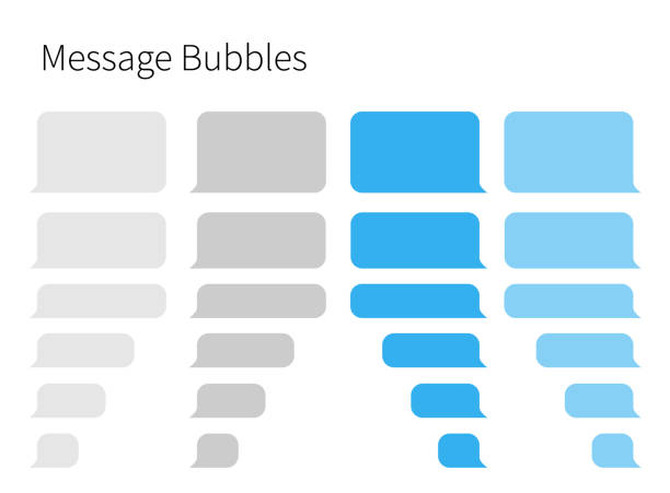 Text Messaging. Smartphone, realistic vector  illustration Text Messaging. Smartphone, realistic vector  illustration speech bubble stock illustrations