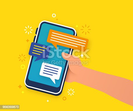 istock Text Mobile Communication 956369870