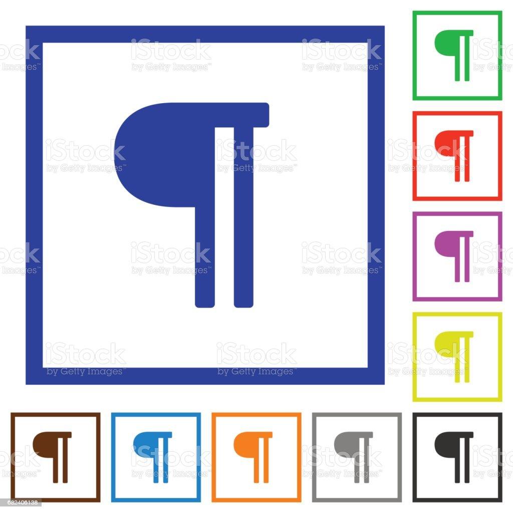 Text paragraph flat framed icons text paragraph flat framed icons – cliparts vectoriels et plus d'images de appliquer libre de droits