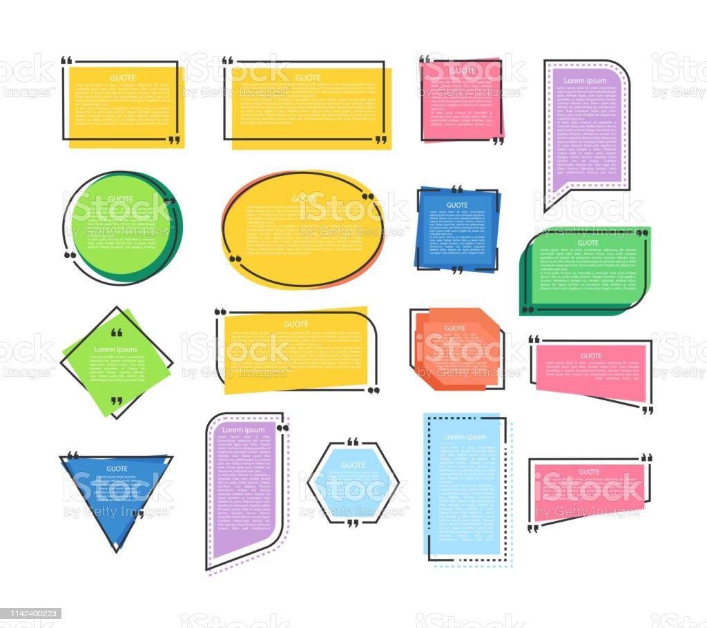 Ilustración De El Texto Cita Burbujas Para Información