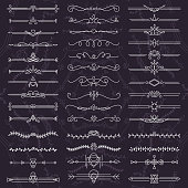 Text separator decoratice book typography ornament design elements vector vintage shapes set illustration