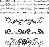Vintage book divider shape text separator decorative typography ornament design elements line frame border page vector illustrator. Elegance dividing invitation separating ornate.