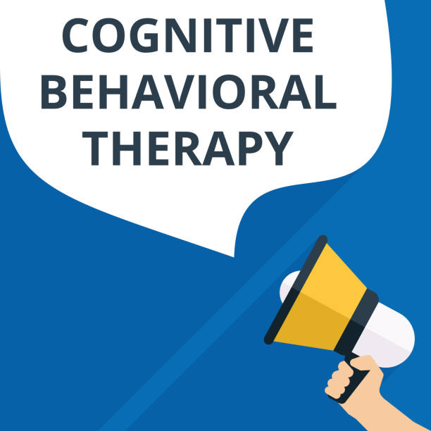 Text sign showing Cognitive Behavioral Therapy. vector art illustration