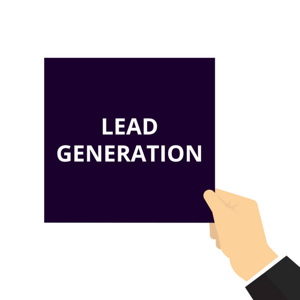 Text sign showing Lead Generation. vector art illustration