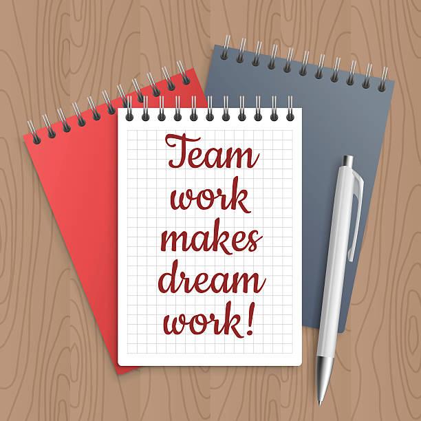text: team work makes dream - filzarbeiten stock-grafiken, -clipart, -cartoons und -symbole