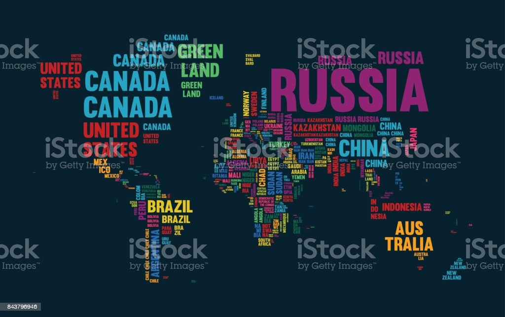 Text world map country name typography design stock vector art text world map country name typography design royalty free text world map country name typography gumiabroncs Image collections