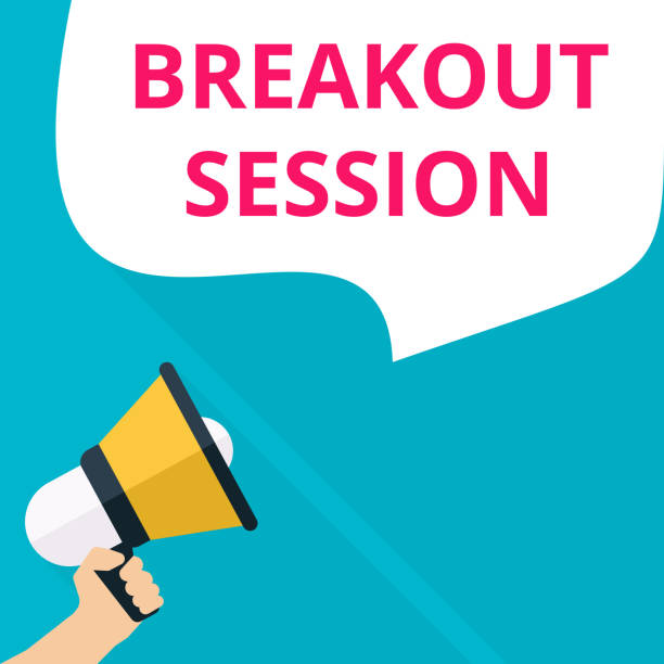 text writing Breakout Session. vector art illustration