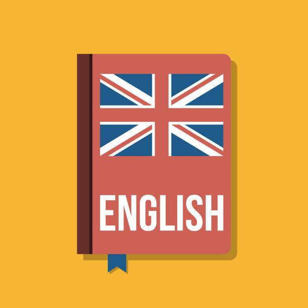 영어 코스, 평면 벡터 일러스트 레이 션에 대 한 교과서 - 잉글랜드 문화 stock illustrations
