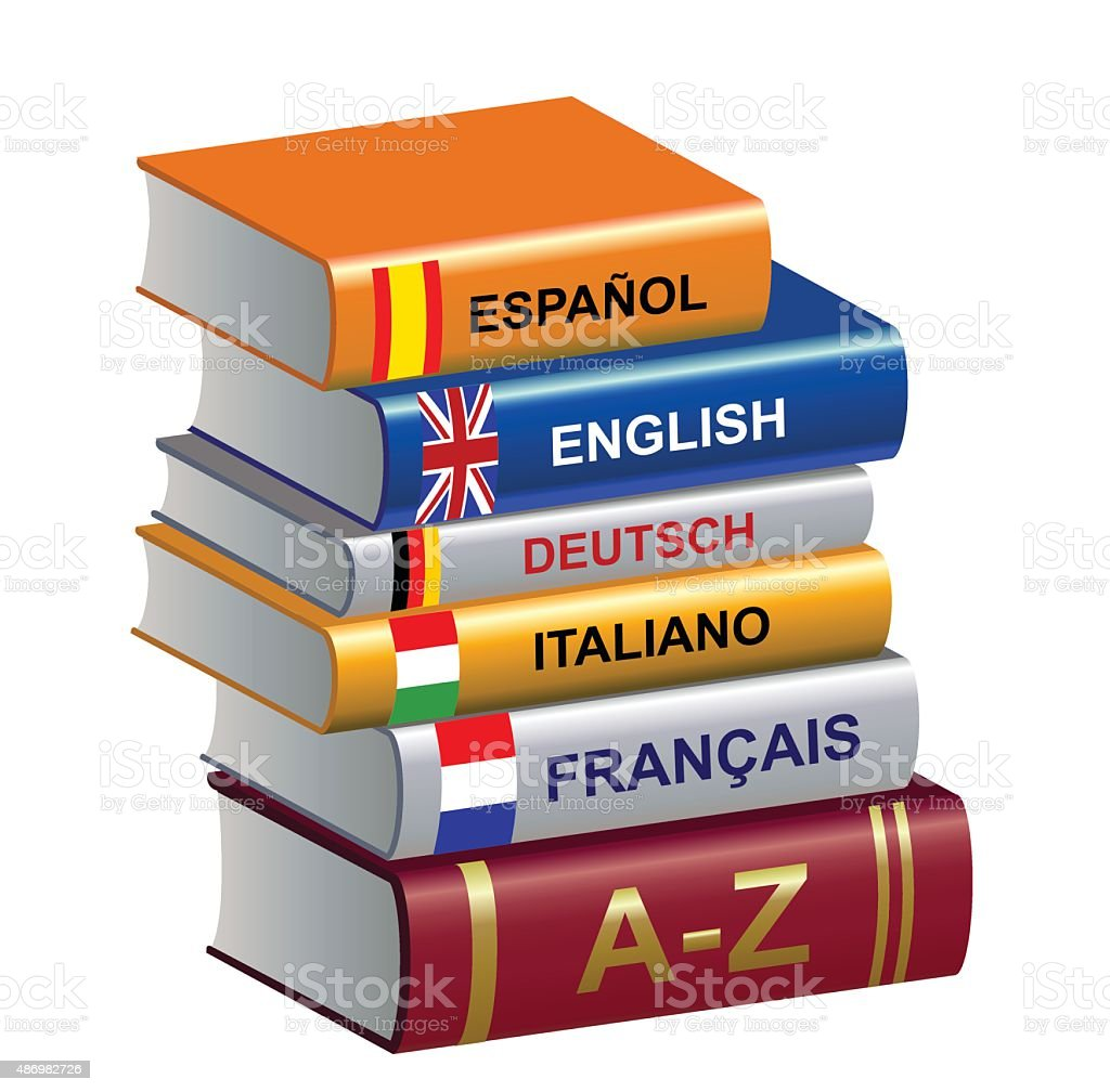 textbooks vector art illustration
