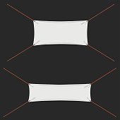 Textile Banners on white background.