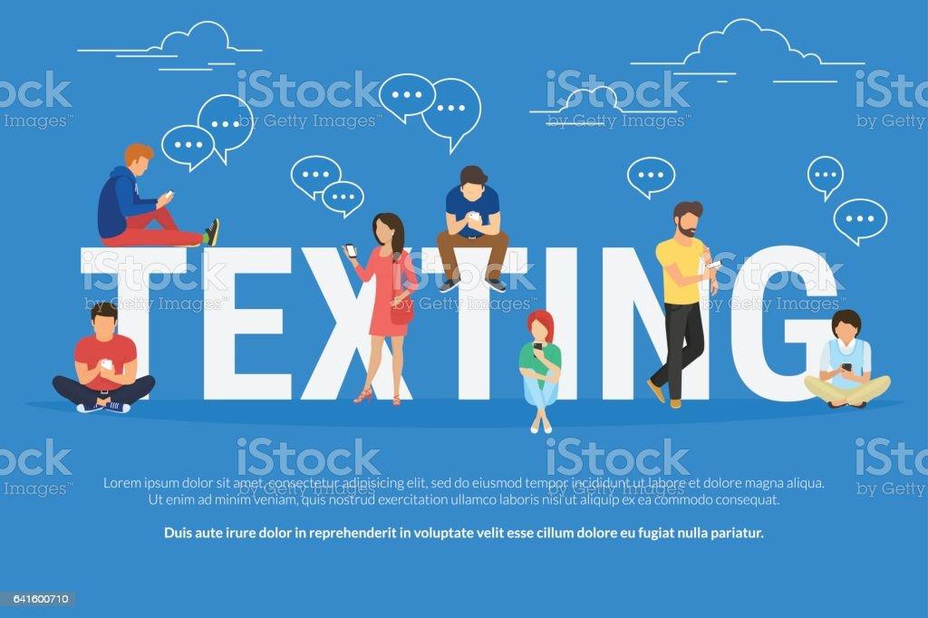 Texting concept illustration vector art illustration