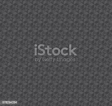 istock texture 3d illusion dark gray seamless pattern. vector illustrat 578294254
