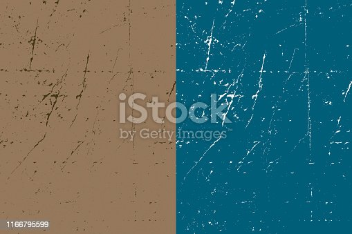 Vector Illustration of a very useful Texture Dirt Grunge Background over Two colours option. Layered illustration, easy to change colours.