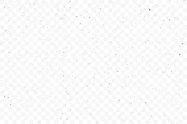 ilustrações de stock, clip art, desenhos animados e ícones de texture grunge chaotic random pattern on transparent background. monochrome abstract dusty worn scuffed background. spotted noisy backdrop. vector. - cereal
