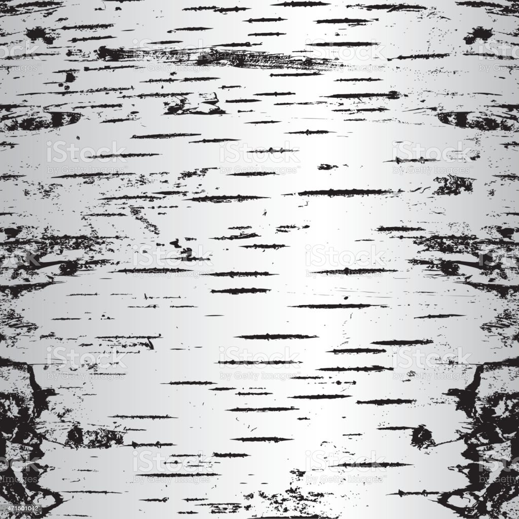 A texture made up from black & white cracks in bark vector art illustration