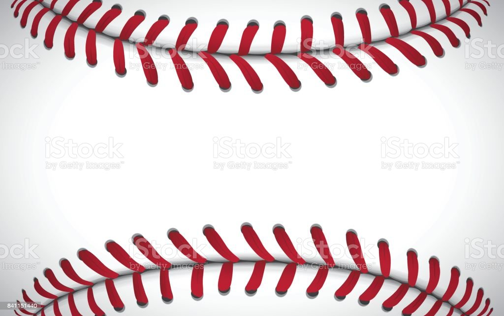 Texture of a baseball, sport background, vector illustration