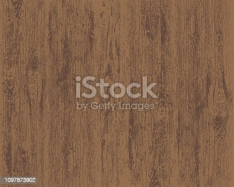 Texture of brown wooden background. Stock vector illustration.