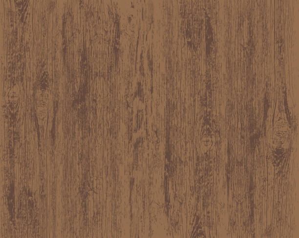 texture of brown wooden background. vector illustration. - wood texture stock illustrations