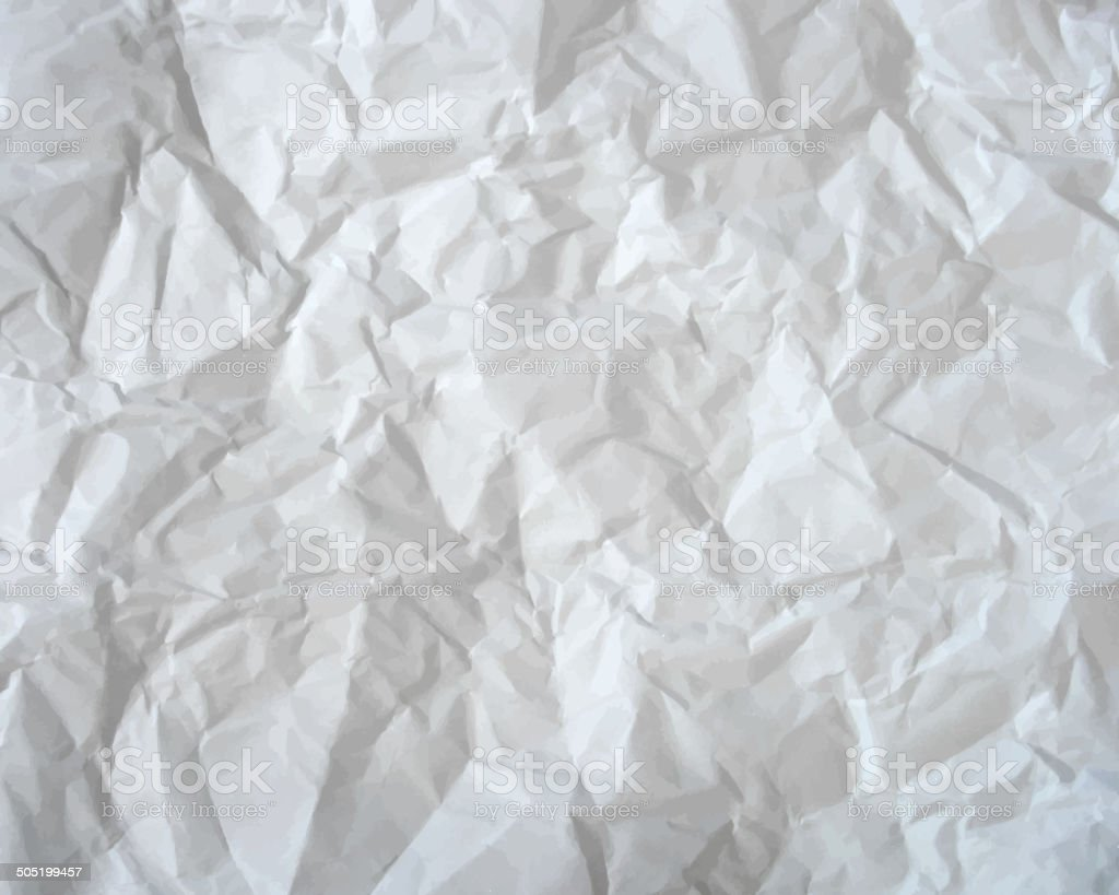 Texture of crumpled paper. Vector illustration vector art illustration