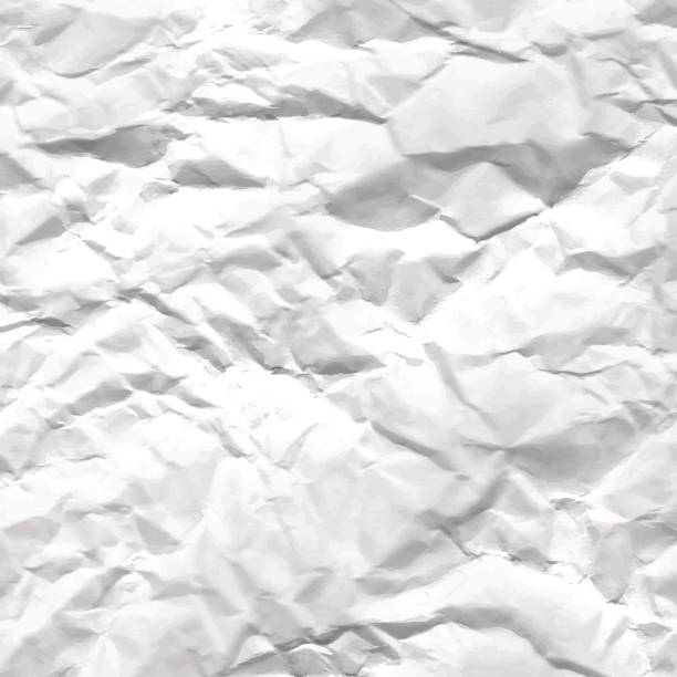 texture of crumpled white paper - wrinkled backgrounds stock illustrations, clip art, cartoons, & icons