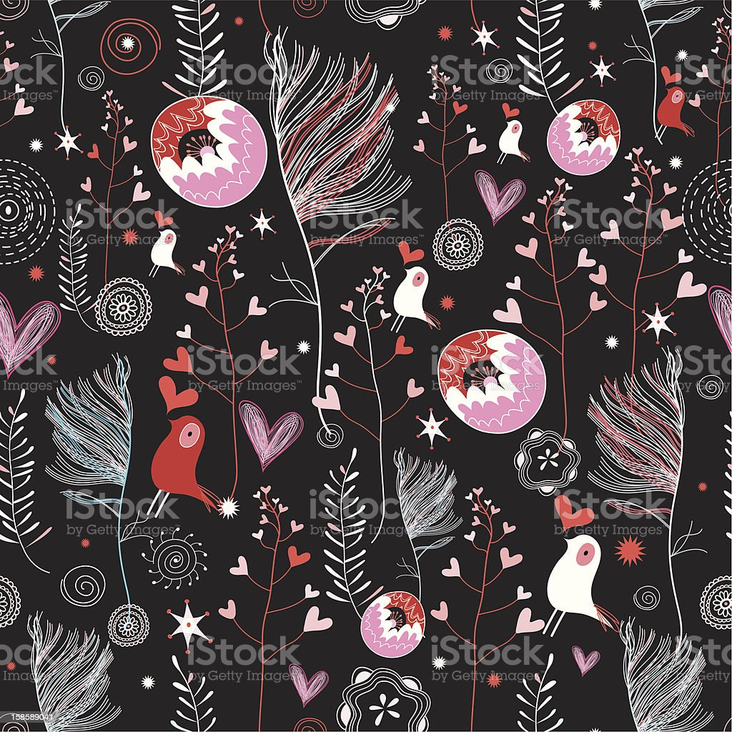 texture of feathers and birds lovers royalty-free stock vector art