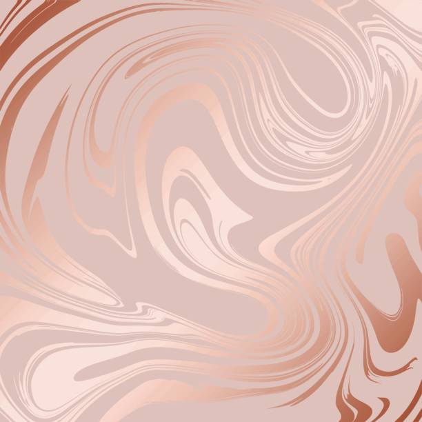 illustrations, cliparts, dessins animés et icônes de texture marbre avec imitation d'or rose. marbre rose pour la conception - marble