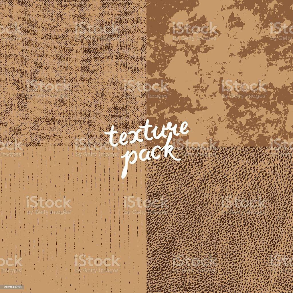Texture pack vector art illustration