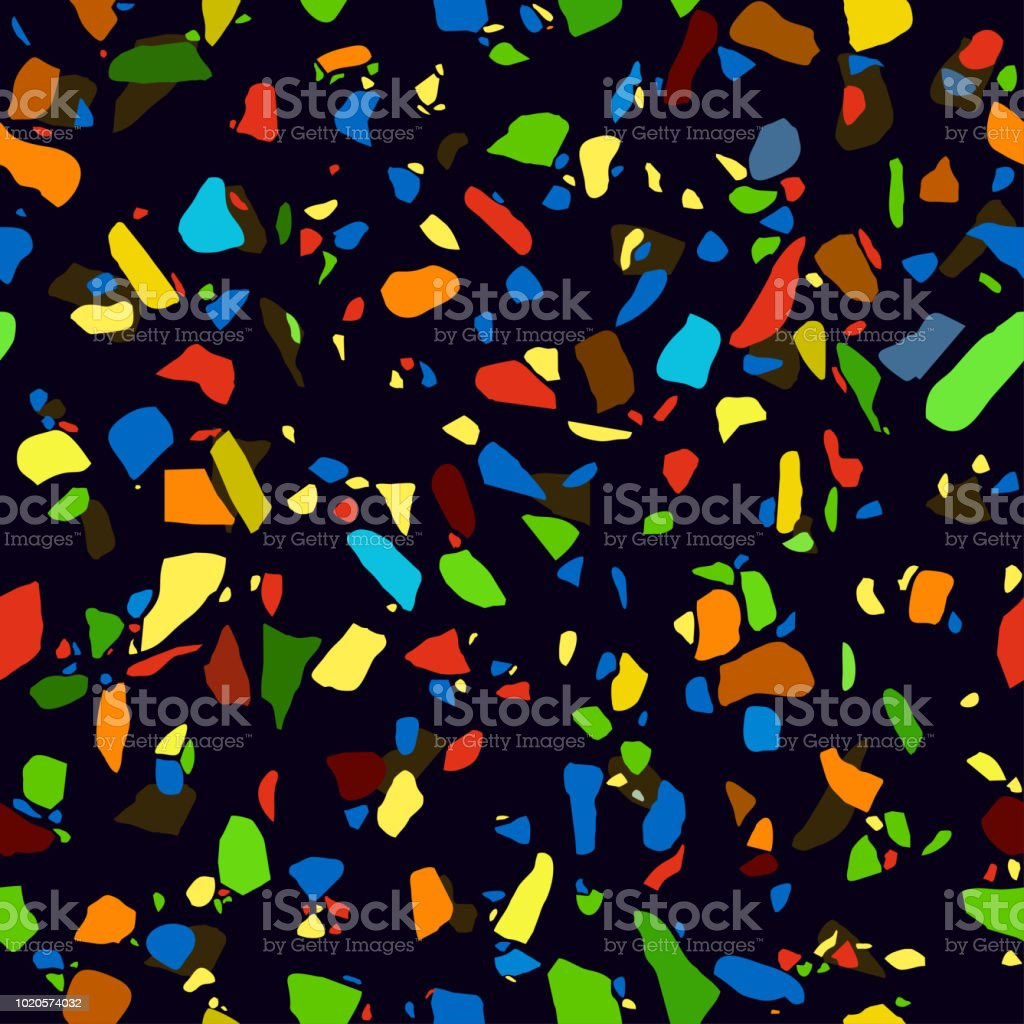Texture Terrazzo Floor Abstract Colorful Seamless Pattern Marble Tile Surface Area Stone Colored