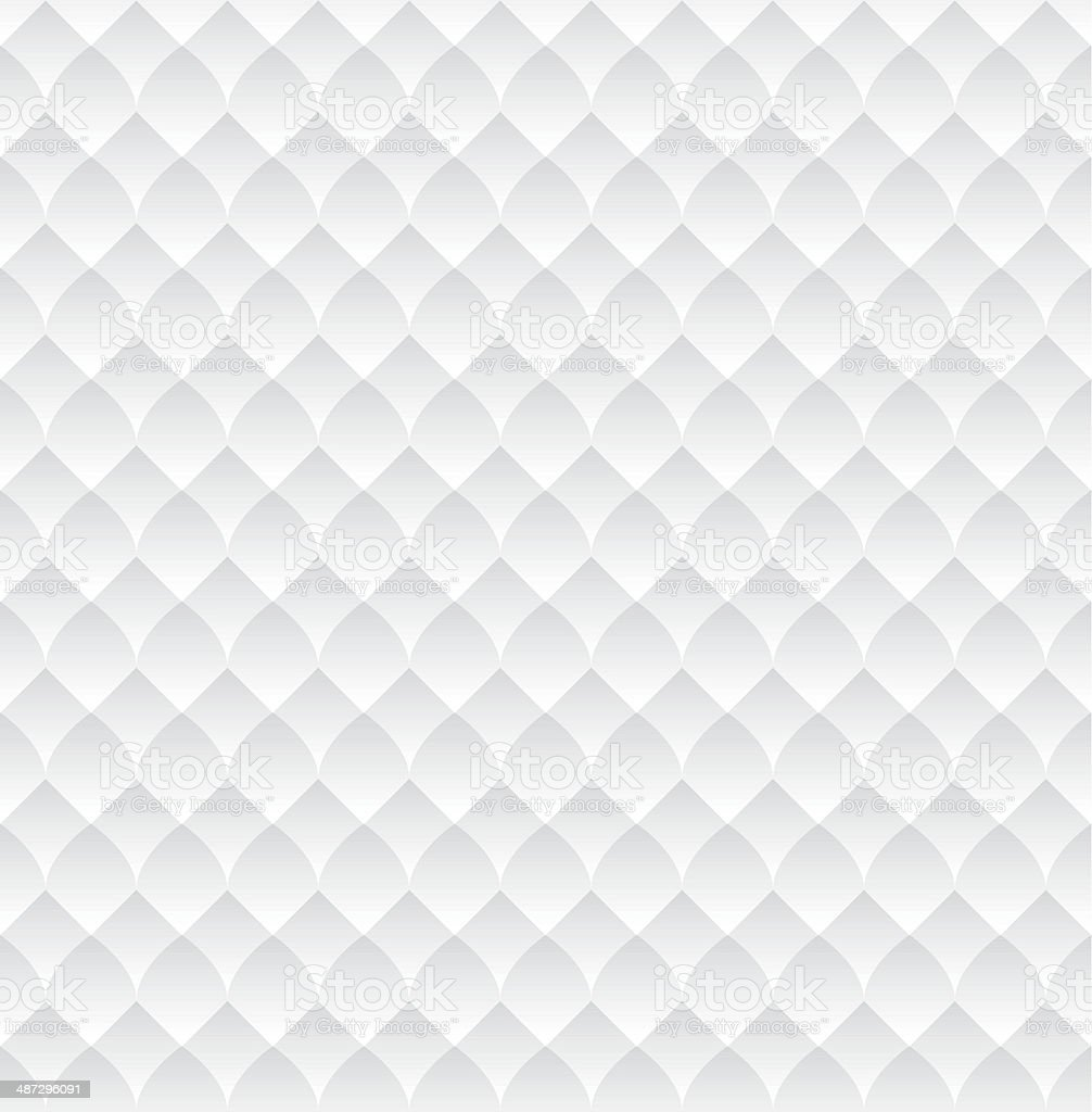 Texture White Scales Seamless vector art illustration