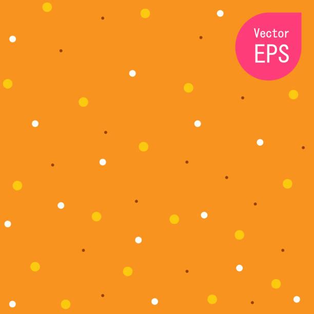 bildbanksillustrationer, clip art samt tecknat material och ikoner med textur med small orange dot. handritad grafisk utskrift. orange prickiga mönster bakgrund vektor illustration perfekt för alla användning. - orange bakgrund
