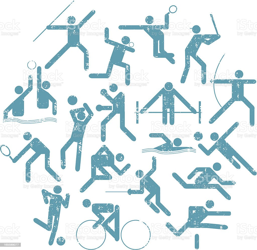 Textured . Athlete Icons royalty-free textured athlete icons stock vector art & more images of aquatic sport