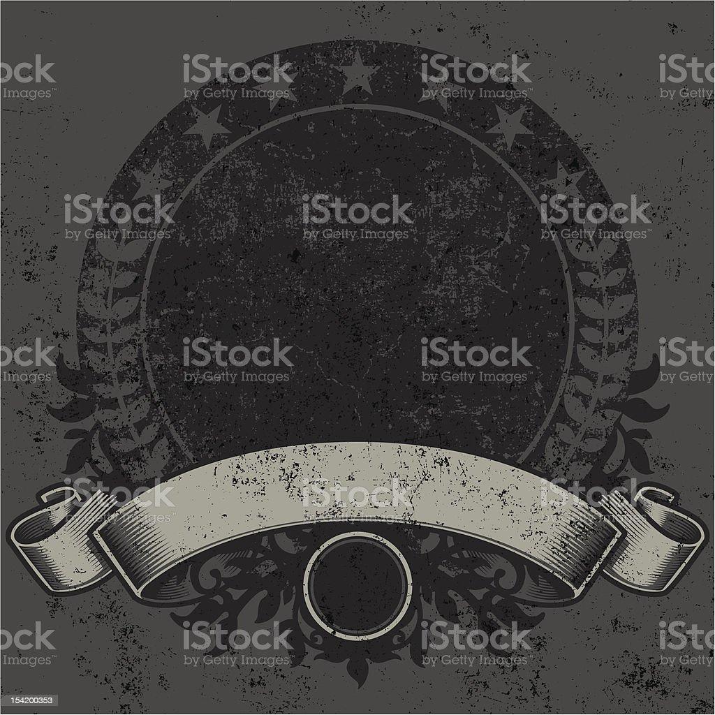 Textured Circular Crest Design royalty-free stock vector art