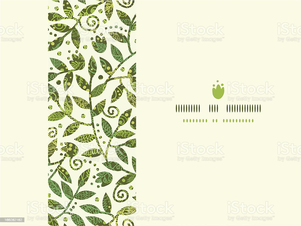Textured Colorful Branches Horizontal Seamless Pattern Background royalty-free stock vector art
