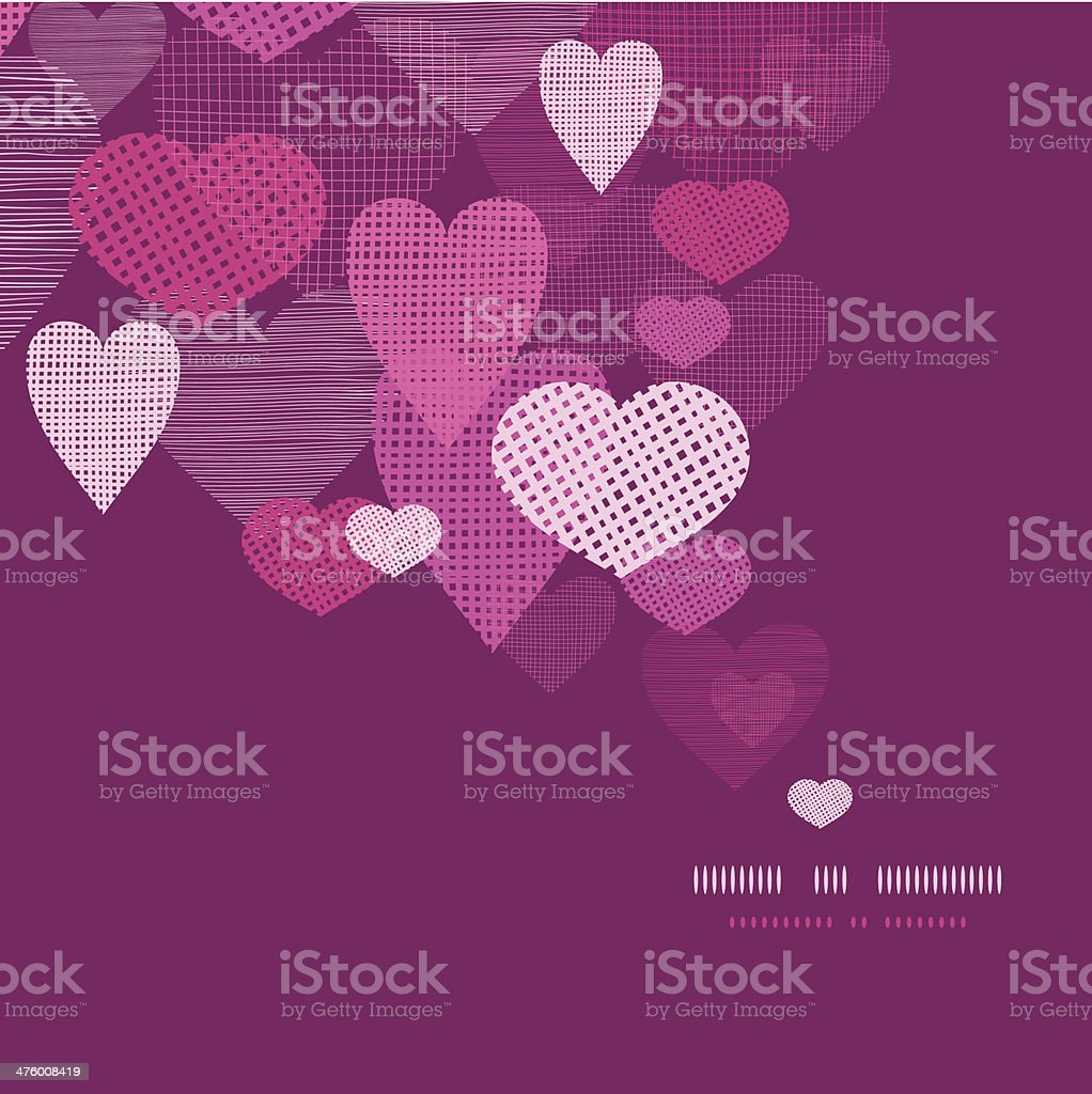 Textured fabric hearts decor pattern background royalty-free textured fabric hearts decor pattern background stock vector art & more images of abstract