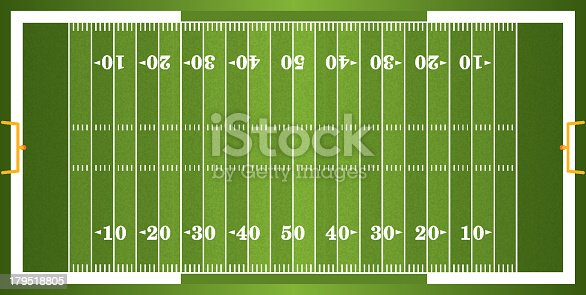 A vector grass textured American football field. EPS 10. File contains transparencies.